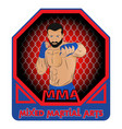 mixed martial arts 0002 vector image