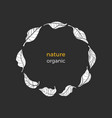 nature symbol circle vector image