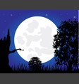 night and tree vector image vector image