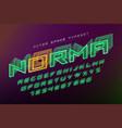 norma futuristic decorative font design vector image vector image