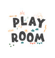 play room - colorful logo isolated on white vector image vector image