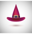 Red witch hat for Halloween vector image vector image