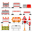road barrier street traffic-barrier under vector image