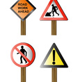 road signs and symbols vector image vector image