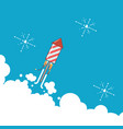 rocket fireworks icon in modern flat design thin vector image vector image