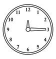 Round wall clock icon outline style vector image vector image