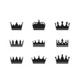 royal crowns collection quality crown collection vector image