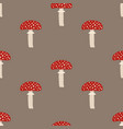 seamless pattern with fly agaric mushrooms vector image vector image