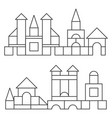 simple line style blocks toy towers for coloring vector image vector image