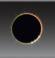 solar eclipse - full sun eclipse bright light vector image vector image