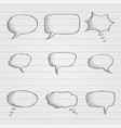 speech bubbles chat symbols on lined paper black vector image