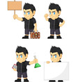 Spiky Rocker Boy Customizable Mascot 19 vector image vector image