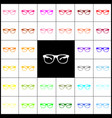 sunglasses sign felt-pen 33 vector image vector image