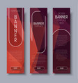 Template vertical web banners with abstract brown vector image