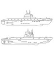two submarines vector image vector image