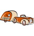 Vintage convertable car trailer vector | Price: 1 Credit (USD $1)