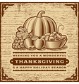 Vintage Thanksgiving Card Brown vector image vector image