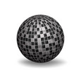 white 3d sphere vector image vector image