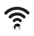 Wifi Symbol World vector image vector image