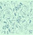 wild botanical motifs seamless texture vector image