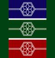 set logo flower vector image