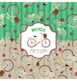 Pattern bicycle set number 4 vector image