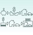 Savings and credit vector image
