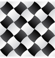 3d curve tile seamless pattern blackampwhite 003 vector image vector image