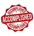 accomplished sign or stamp vector image
