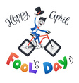 April fools day vector image