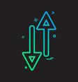 arrow up down way icon design vector image vector image