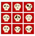Assembly flat icons halloween emotion skull