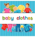 Baby clothes Background with clothing items for vector image vector image