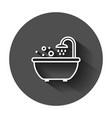 bath shower icon in flat style bathroom hygiene vector image vector image
