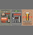 beer pub and brewery process vector image vector image