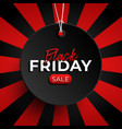 black friday sale tag circle banner and rope vector image vector image