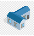 blue house isometric icon vector image vector image