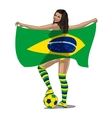 Brasil Football Fan vector image
