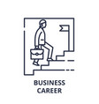 business career line icon concept business career vector image vector image