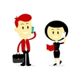 Business People Talking on The Phone vector image vector image