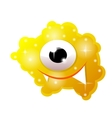 Cartoon bacteria fun character cute monster vector image vector image