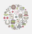 casino circular concept symbol vector image vector image