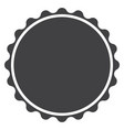 circle seal stamp lace on white background circle vector image