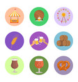 circled images food and beer vector image