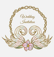 color wedding invitation vector image vector image