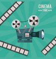 colorful poster of cinema time with movie vector image