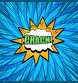 comic bright elegant explosive concept vector image vector image