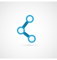 Connecting icon vector image