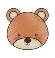 cute bear woodland icon vector image vector image