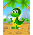 cute dinosaur cartoon vector image vector image